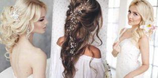 свадебные прически на Длинные волосы, фото